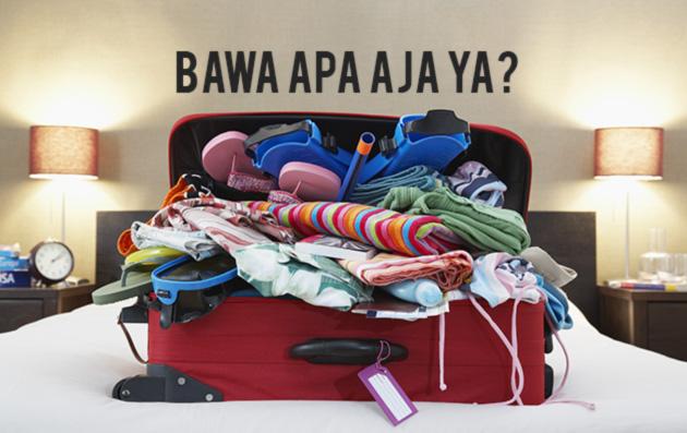 Hasil gambar untuk barang barang saat traveling